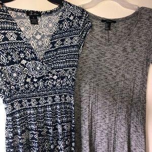 Gray and blue summer dress bundle !!✨